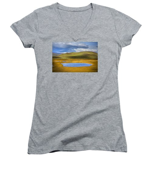 Patagonian Lakes Women's V-Neck (Athletic Fit)
