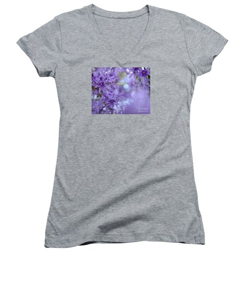 Peace Comes From Within Women's V-Neck T-Shirt (Junior Cut) by Olga Hamilton