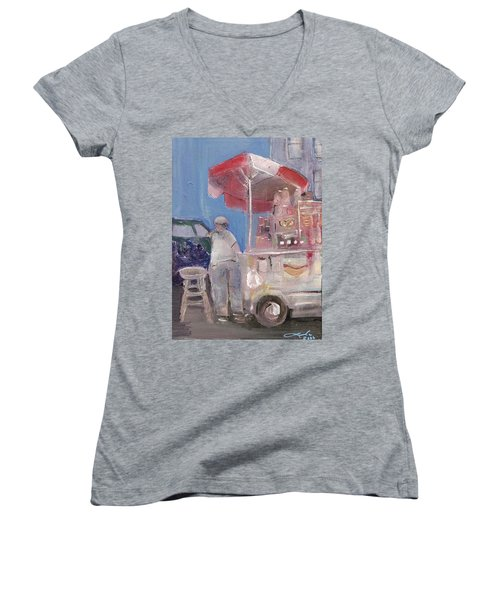 Stand On The Corner Women's V-Neck T-Shirt