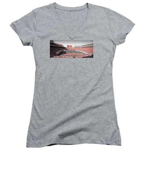 0813 Camp Randall Stadium Panorama Women's V-Neck
