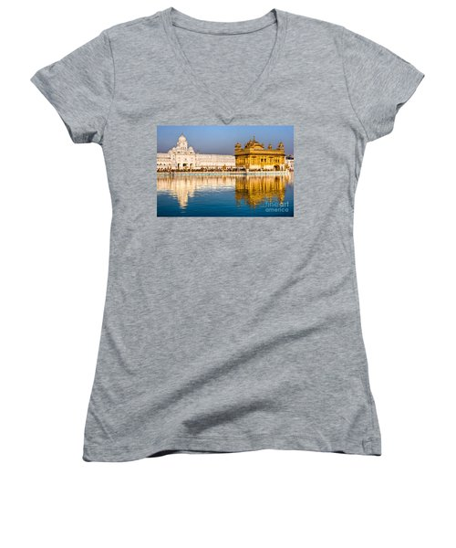 Golden Temple In Amritsar - Punjab - India Women's V-Neck T-Shirt