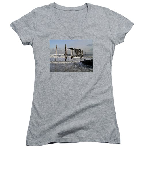 59th St. Pier Women's V-Neck (Athletic Fit)