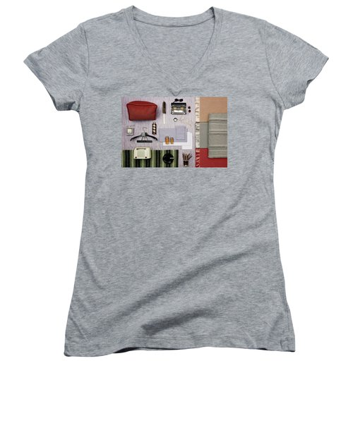 A Group Of Household Objects Women's V-Neck
