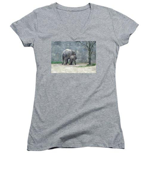 A Mothers Love Women's V-Neck T-Shirt