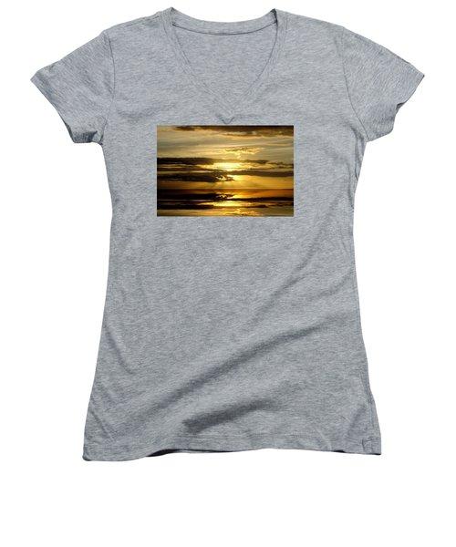 Abstract 91 Women's V-Neck T-Shirt