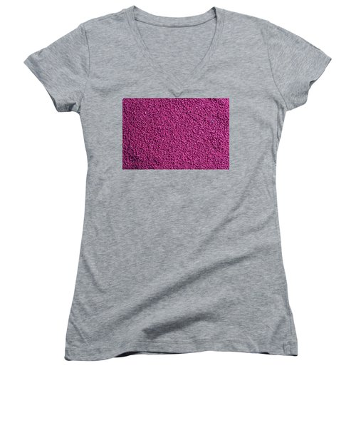 Abstract Texture - Purple Women's V-Neck (Athletic Fit)