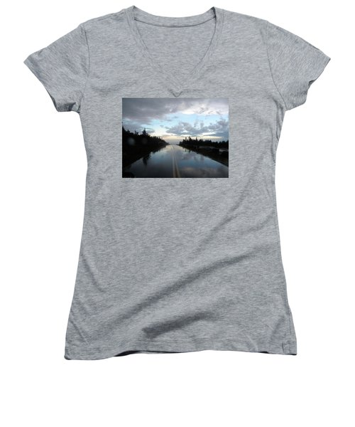 After The Storm Women's V-Neck T-Shirt (Junior Cut) by James Petersen