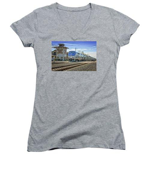 Amtrak 112 Women's V-Neck T-Shirt