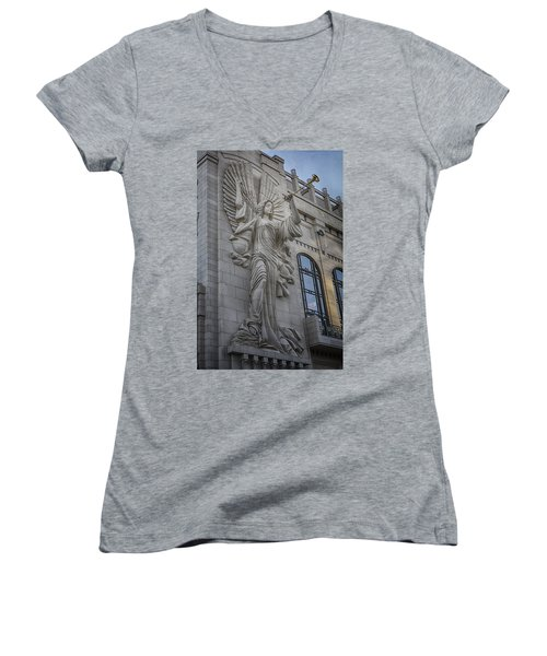 Bass Hall Angel Women's V-Neck T-Shirt (Junior Cut)