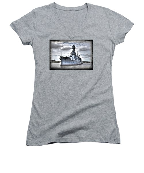 Battleship Texas Women's V-Neck (Athletic Fit)