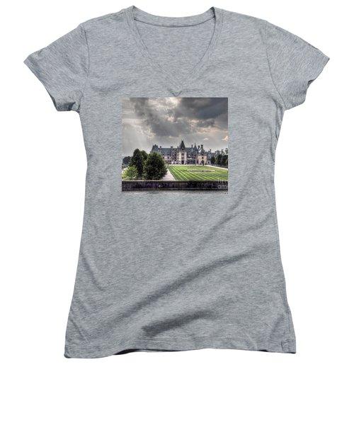 Biltmore Estate Women's V-Neck T-Shirt (Junior Cut) by Savannah Gibbs