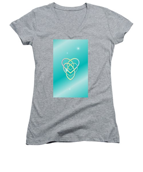 Celtic Motherhood Knot Women's V-Neck (Athletic Fit)