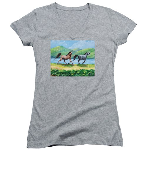 Colt And Mare Women's V-Neck (Athletic Fit)