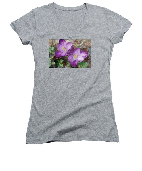 Crocus  Women's V-Neck (Athletic Fit)