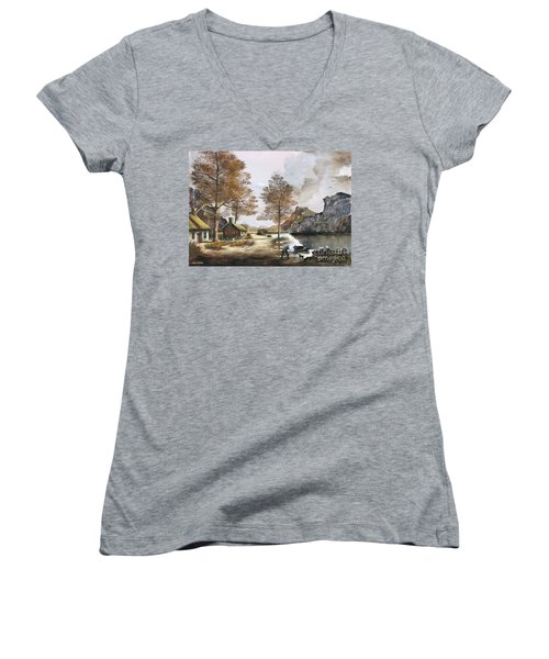 Crofters Cottages Women's V-Neck