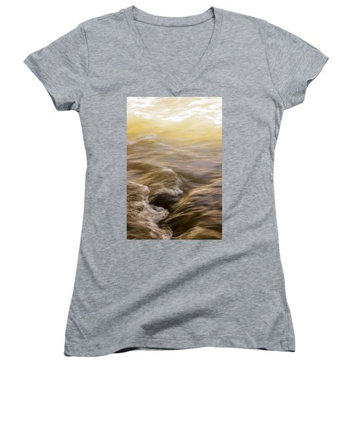 Dance Of Water And Light Women's V-Neck (Athletic Fit)