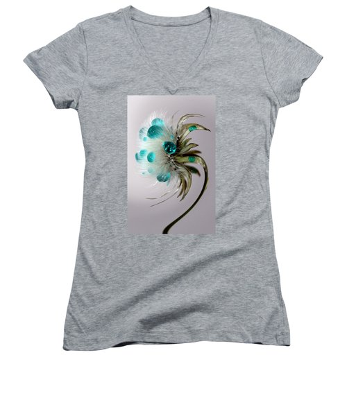 Dandelion Blues Women's V-Neck (Athletic Fit)