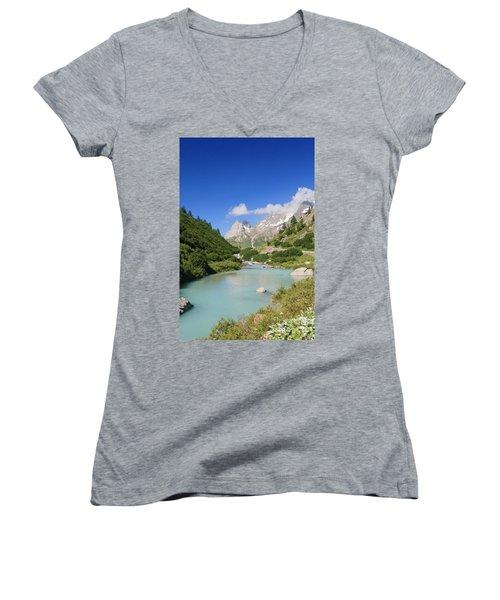 Dora Stream. Veny Valley Women's V-Neck T-Shirt (Junior Cut) by Antonio Scarpi