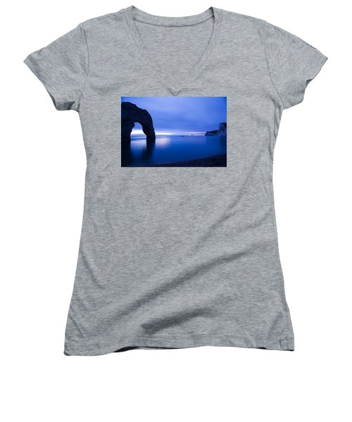 Durdle Door At Dusk Women's V-Neck (Athletic Fit)