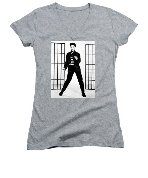 Elvis Presley Women's V-Neck (Athletic Fit)