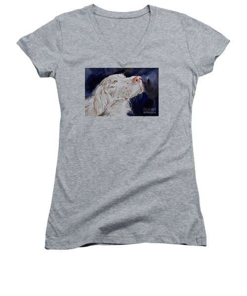 English Setter  Women's V-Neck T-Shirt