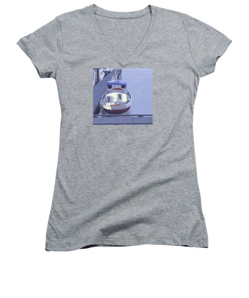 Evening At Port Hardy Women's V-Neck T-Shirt (Junior Cut) by Gary Giacomelli