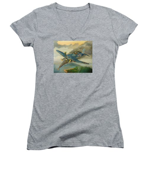 F4u Corsair Women's V-Neck T-Shirt