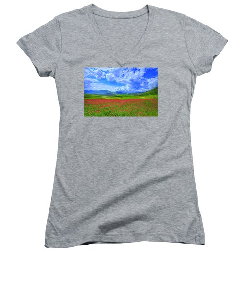 Fields Of Dreams Women's V-Neck T-Shirt