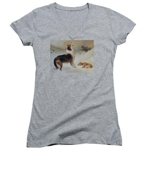 Found Women's V-Neck T-Shirt (Junior Cut) by Albrecht Schenck
