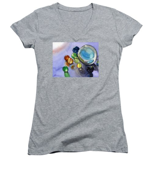 Found My Marbles Women's V-Neck (Athletic Fit)