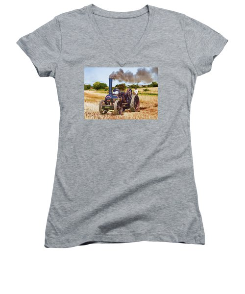 Fowler Ploughing Engine Women's V-Neck (Athletic Fit)