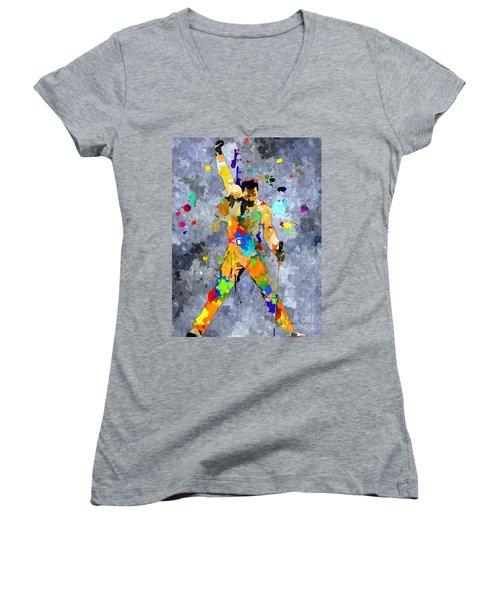 Freddie Mercury Women's V-Neck T-Shirt (Junior Cut)