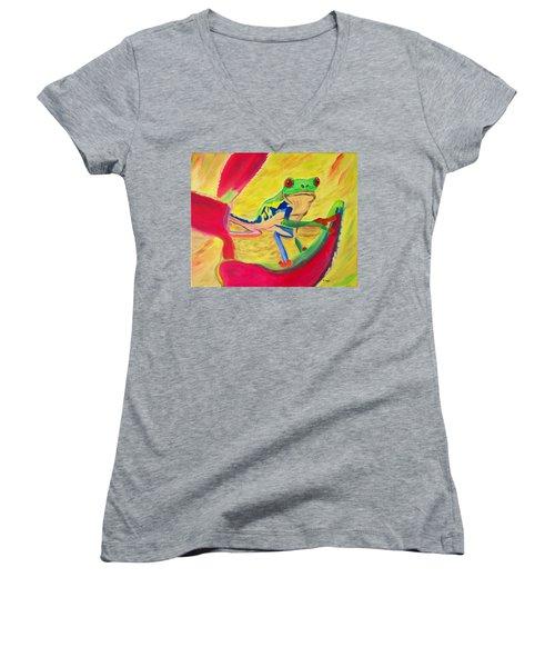 Rainforest Melody Women's V-Neck T-Shirt