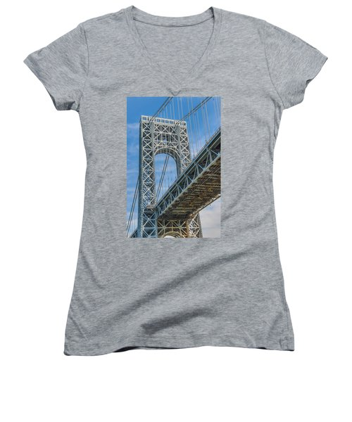 George Washington Bridge Women's V-Neck (Athletic Fit)