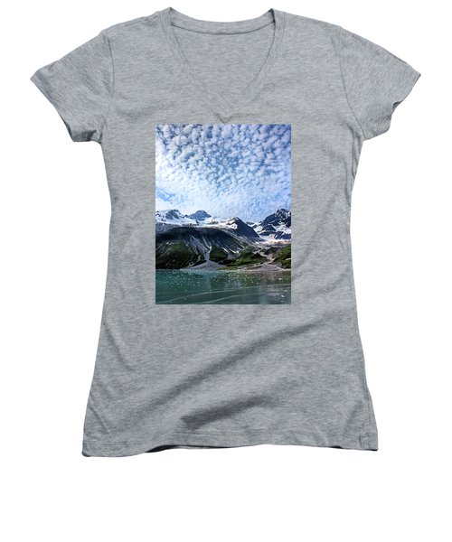 Glacier Bay Beautiful Women's V-Neck T-Shirt (Junior Cut) by Kristin Elmquist