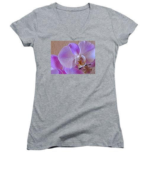 Women's V-Neck featuring the photograph Grace And Elegance by Lynda Lehmann