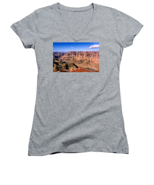 Grand Canyon Women's V-Neck T-Shirt (Junior Cut) by Lynn Bolt