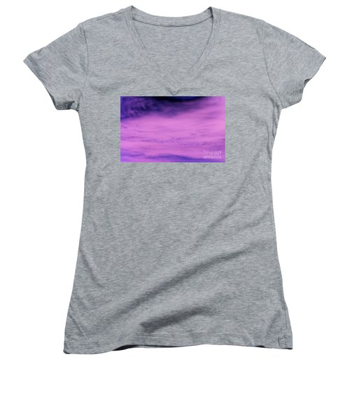 Women's V-Neck T-Shirt (Junior Cut) featuring the photograph Gravity Pull by Jamie Lynn