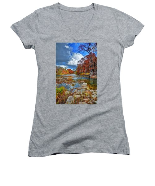 Guadalupe In The Fall Women's V-Neck T-Shirt