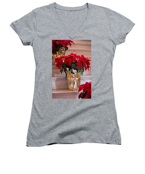 Happy Holidays Women's V-Neck (Athletic Fit)