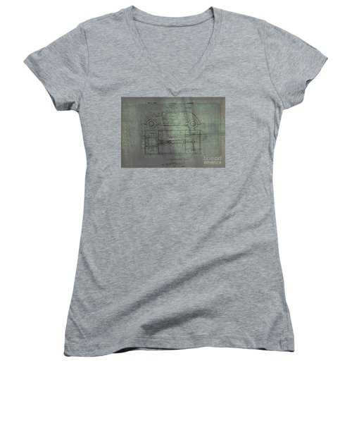 Harleigh Holmes Original Automobile Patent  Women's V-Neck (Athletic Fit)
