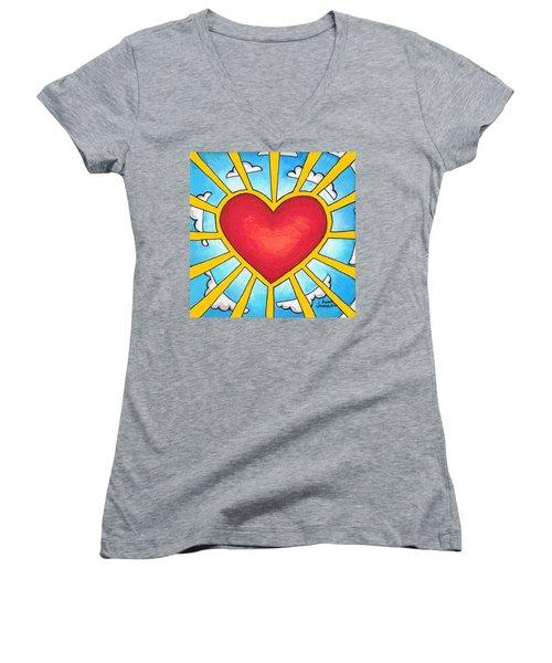 Heart Shine Women's V-Neck