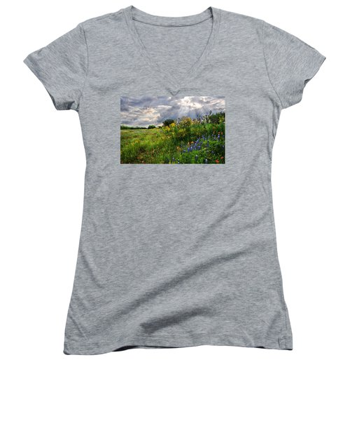 Heaven's Light  Women's V-Neck T-Shirt