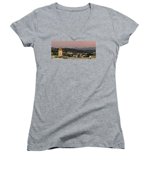High Angle View Of A City, Beverly Women's V-Neck T-Shirt (Junior Cut) by Panoramic Images