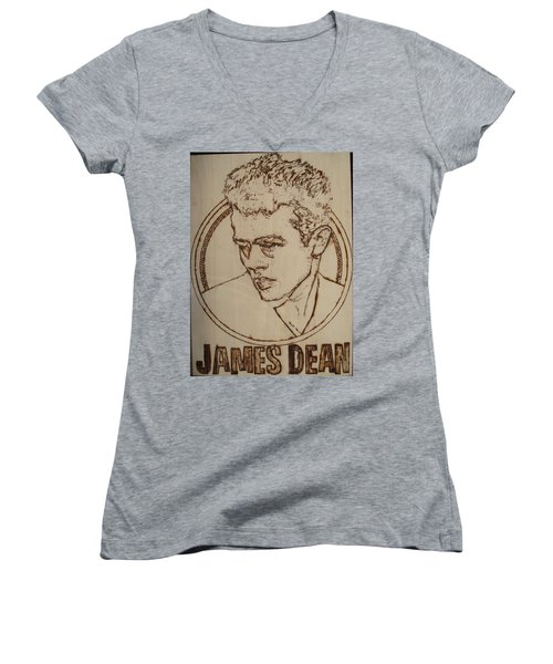 James Dean Women's V-Neck T-Shirt