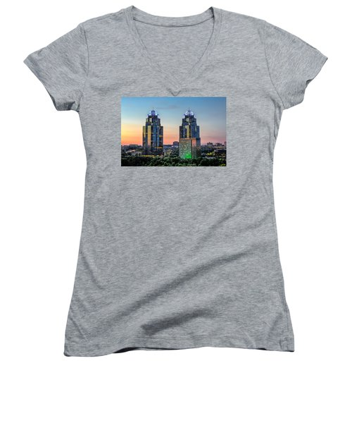 King And Queen Buildings Women's V-Neck T-Shirt (Junior Cut) by Anna Rumiantseva