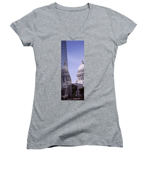 Low Angle View Of A Government Women's V-Neck T-Shirt (Junior Cut) by Panoramic Images