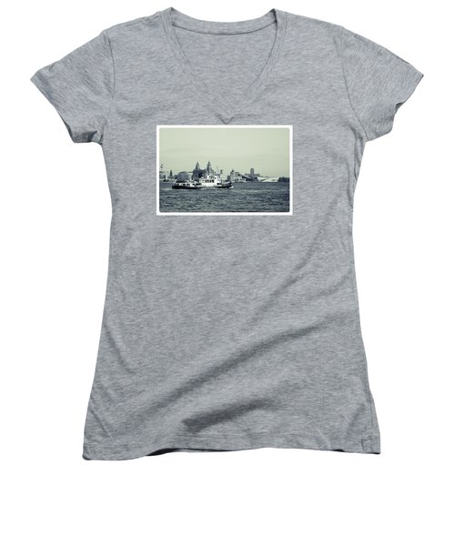 Mersey Ferry Women's V-Neck (Athletic Fit)