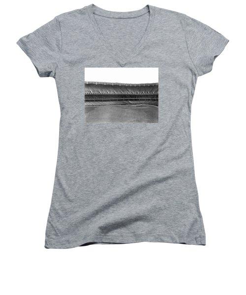 New Yankee Stadium Women's V-Neck T-Shirt (Junior Cut) by Underwood Archives