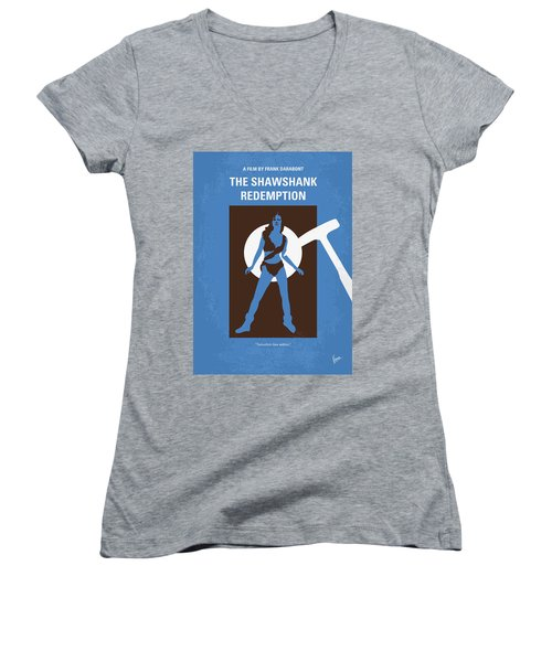 No246 My The Shawshank Redemption Minimal Movie Poster Women's V-Neck